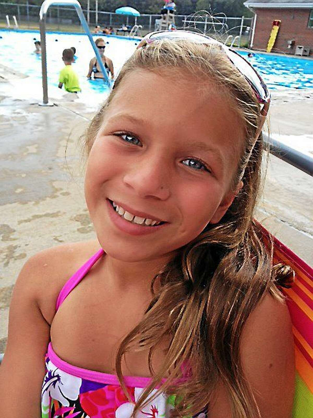 Aliana Fichera of Rocky Hill, 10, who suffers from common variable immunodeficiency, will become an official member of the Wesleyan University swim team during a special draft day event Saturday in Middletown.