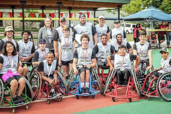 The Houston Hotwheels are, back row, from left: Hannah Walker, Leathon LeBlanc, Trice Ham, Christian Spangler and Marc Sheehan; middle row: Garrett Castillo, Carrington Marendes, Aaron Berry, Elyssa LeBlanc, Ke'Sean Paire, Bryce Cruz and Dustin Stallberg; front row: Leslie Marroquin, Sammy Haynes, Peter Berry, Rodrigo Linares and Chris Ventura.