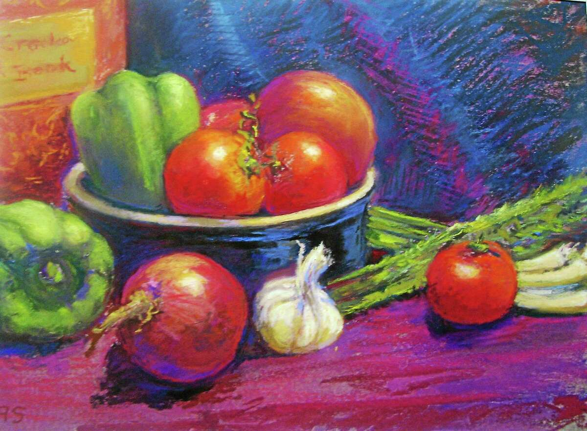 Image courtesy of the artist Beverly Schirmeier, Ready for Soup- Pastel
