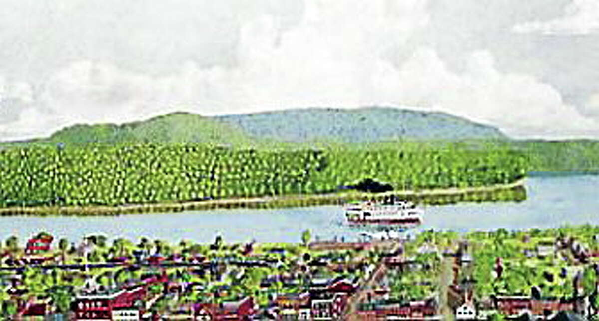 Middletown, circa 1899, is a painting by Middletown High School art teacher Patrick Shugrue.