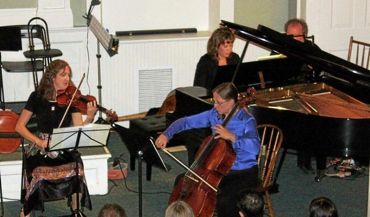 Submitted photo Faculty of the Community Music School in Centerbrook rehearse for their upcoming concert.