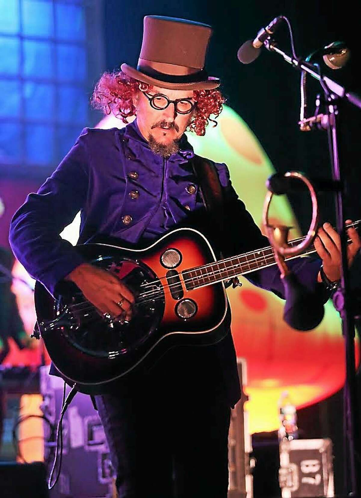 Photo by John Atashian Singer and bassist, Les Claypool of the rock band Primus, is shown performing at the Palace in Waterbury during the group's concert on Oct. 28. Primus is currently on a U.S. tour in support of their brand new cd ìPrimus & the Chocolate Factory.î