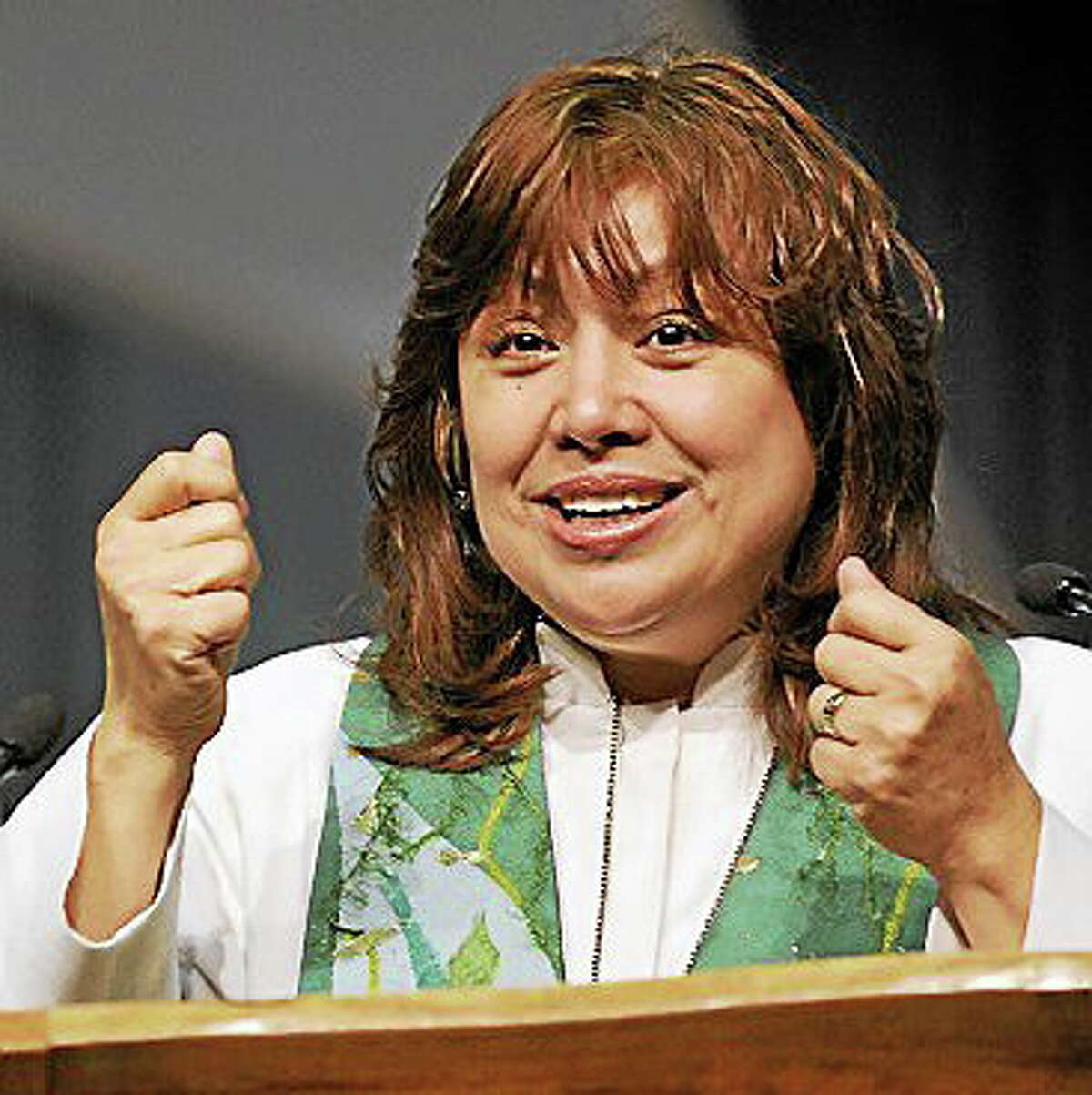 Minerva Garza Carcano is the first Hispanic woman to be elected to the episcopacy of The United Methodist Church.