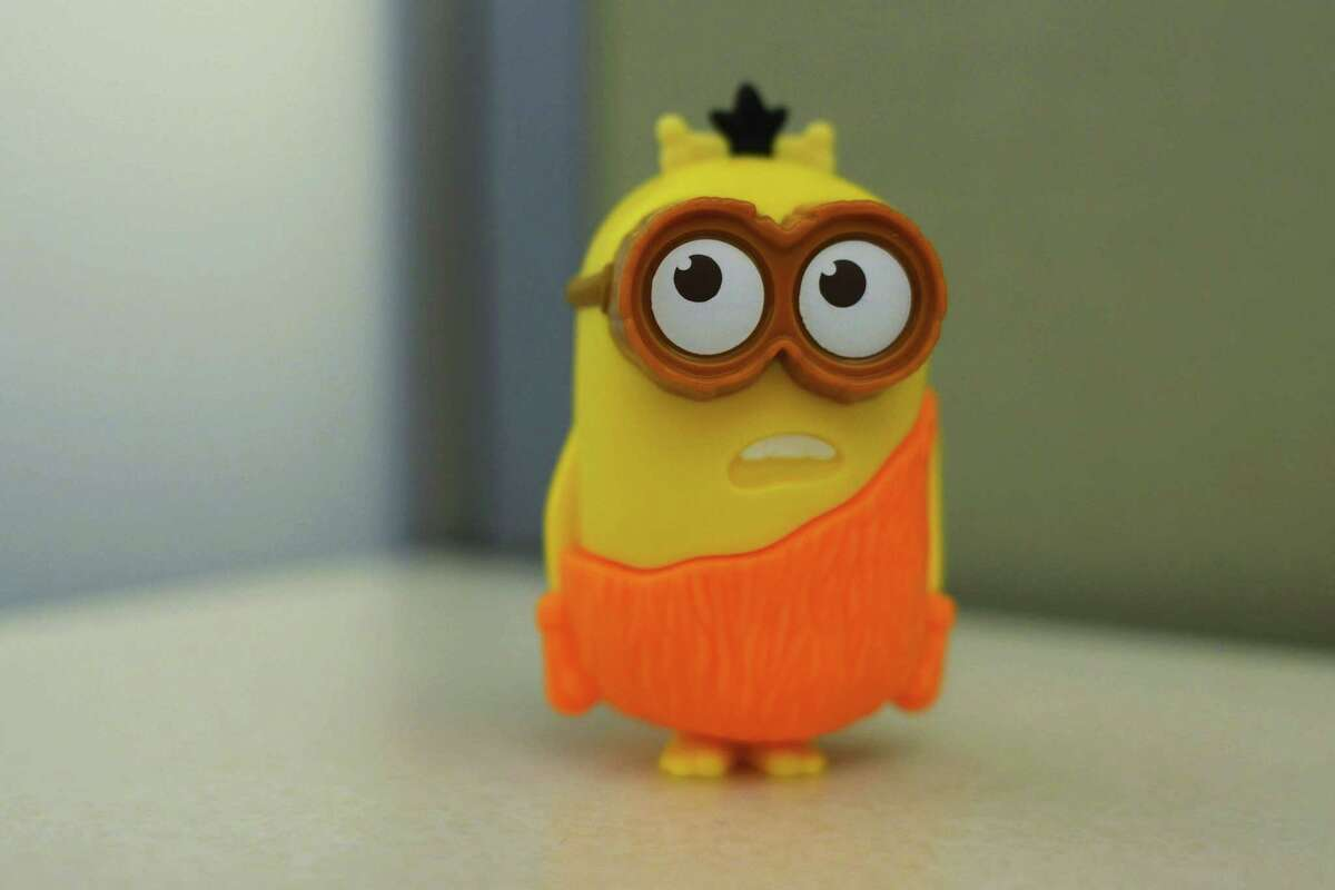 """A """"Minion"""" toy in New York, distributed in McDonald's restaurant's Happy Meals. The company says the talking toy is speaking only nonsense words and not something a little more adult. Experts say McDonald's may be right, and the fault may lie in how our brains are primed to find words even when they're not really there."""