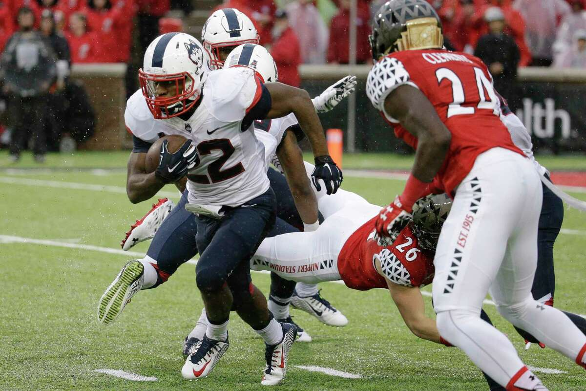 UConn running back Arkeel Newsome ranked second nationally with 996 all-purpose yards in October.