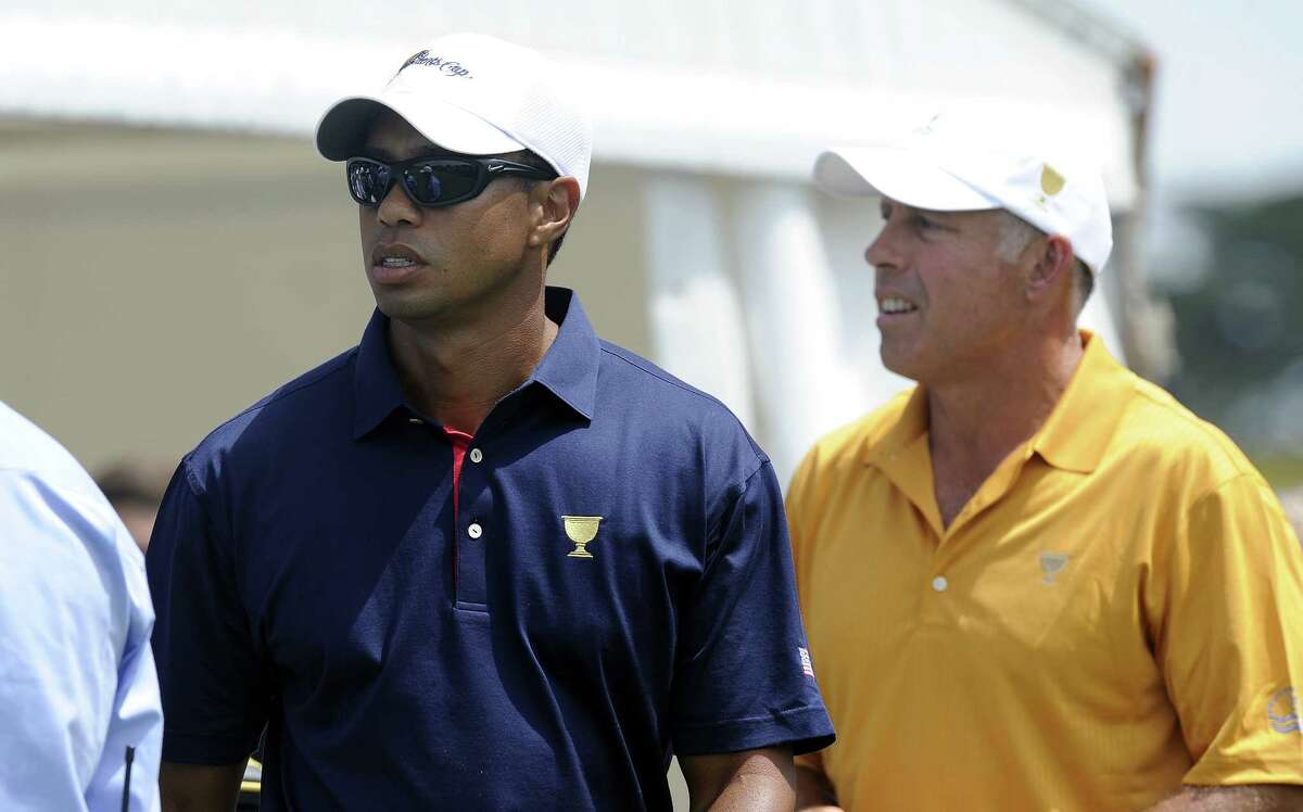 Tiger Woods, left, and his former caddie Steve Williams.