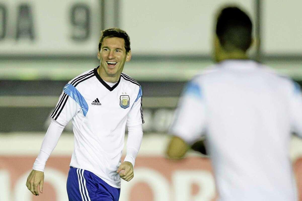 Argentina's Lionel Messi takes part in an official training session Saturday at Vasco da Gama Stadium in Rio de Janeiro.