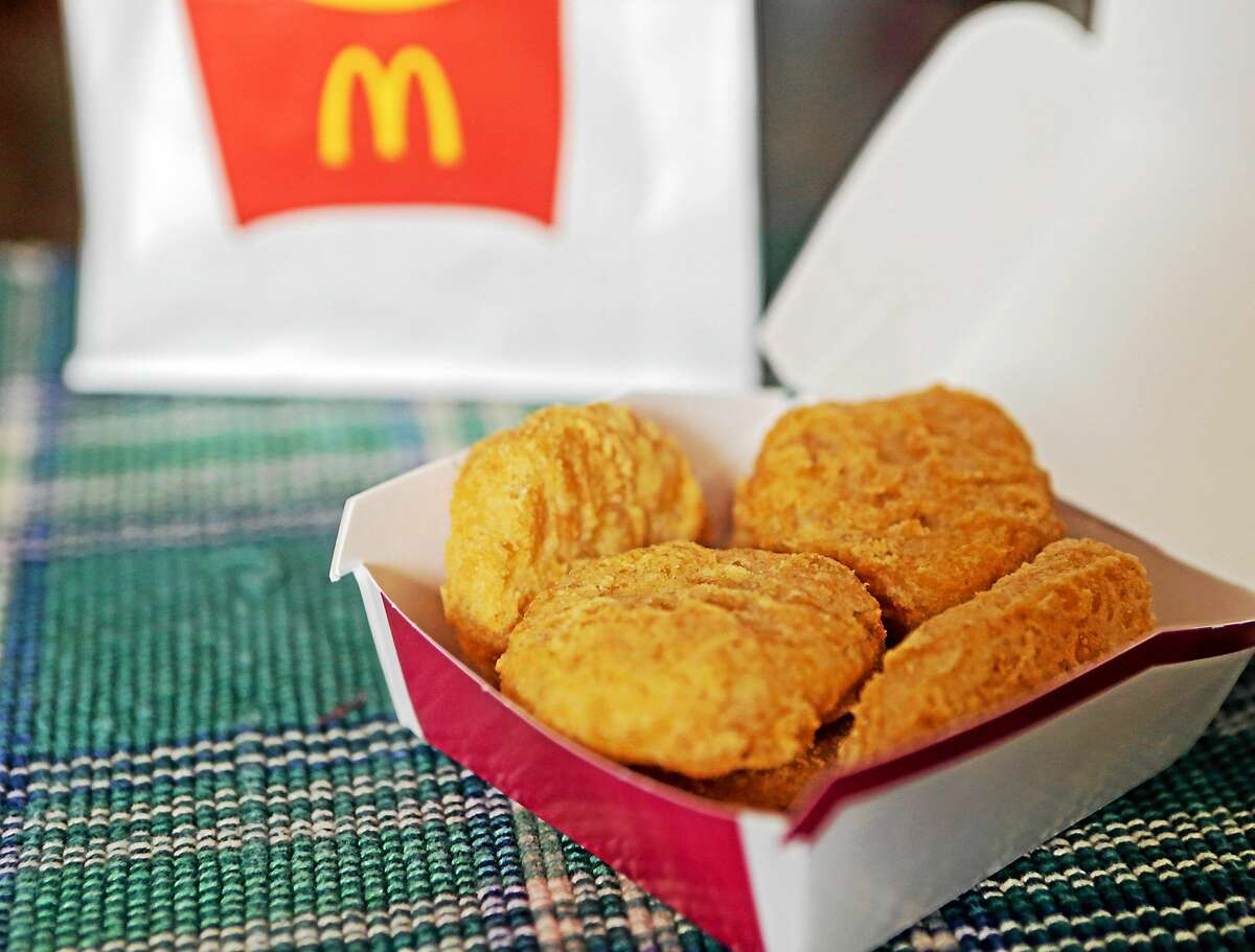 An order of McDonald's Chicken McNuggets is displayed.