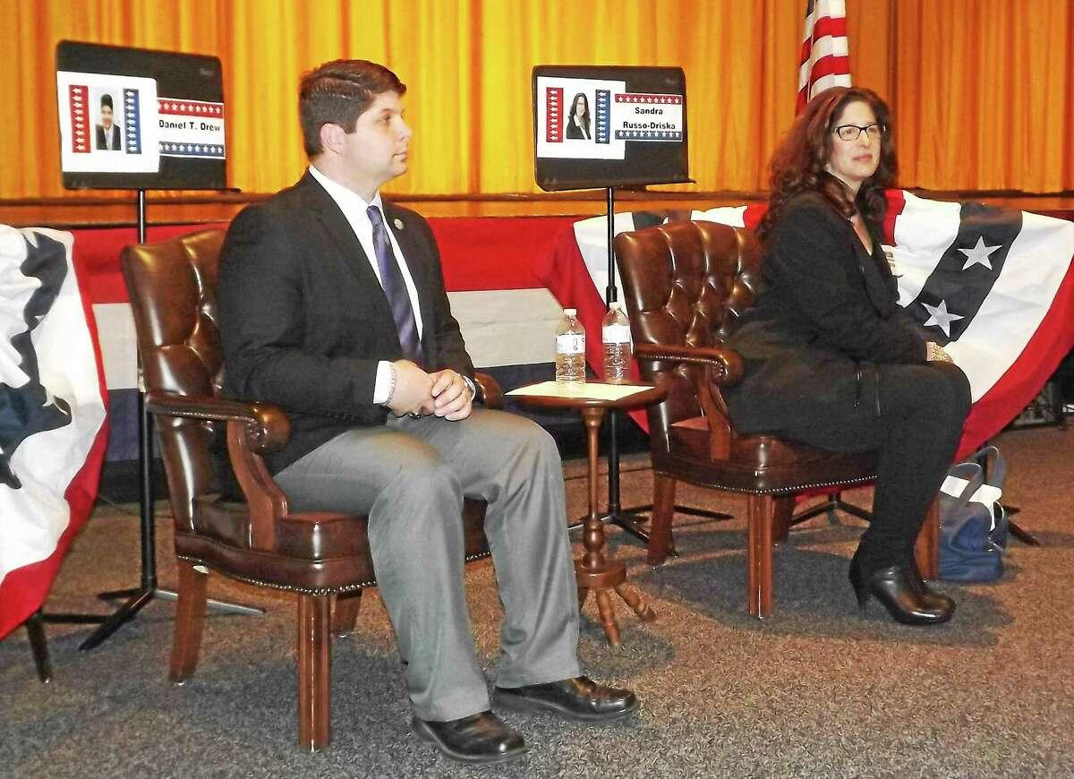 Mayor Dan Drew and Common Councilwoman Sandra Russo-Driska