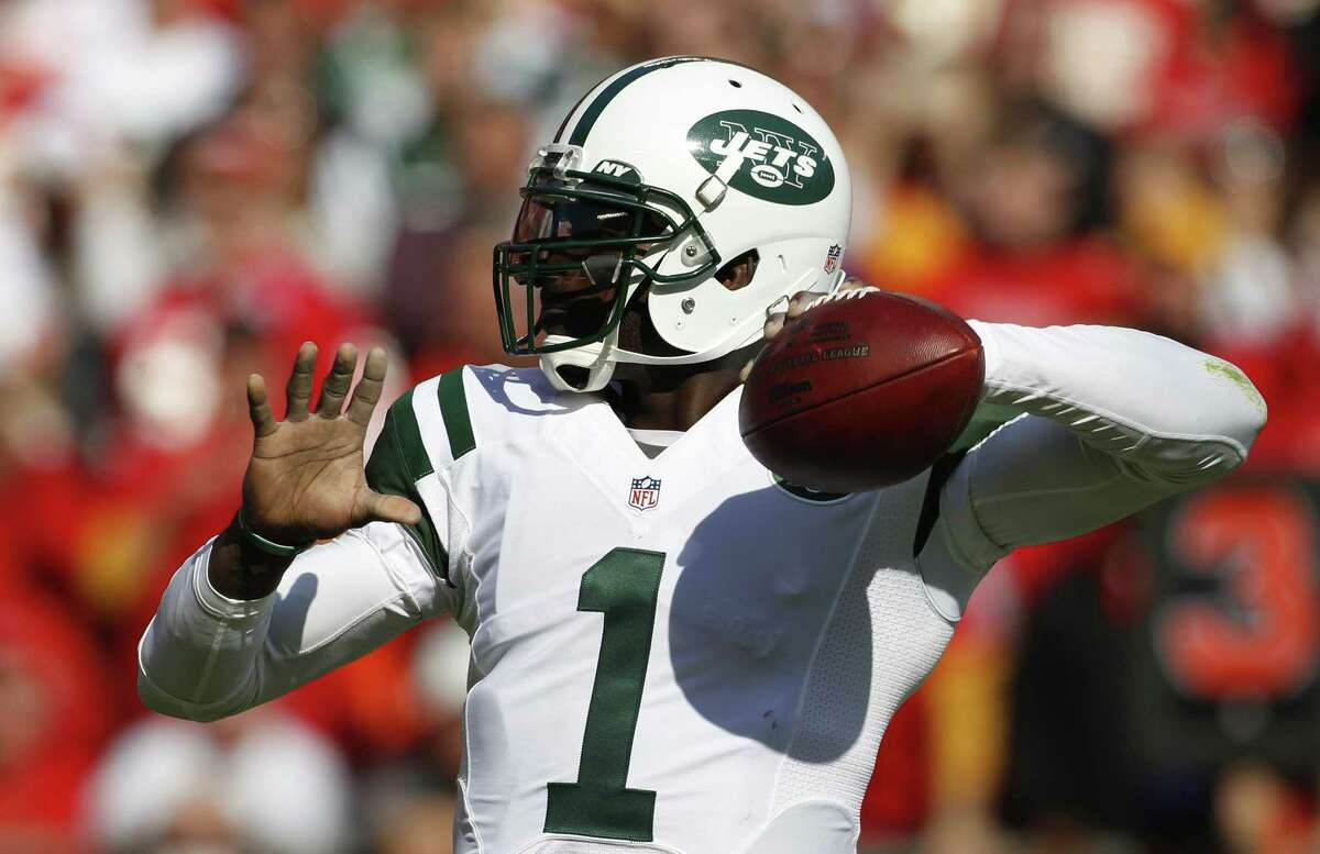 New York Jets quarterback Michael Vick.