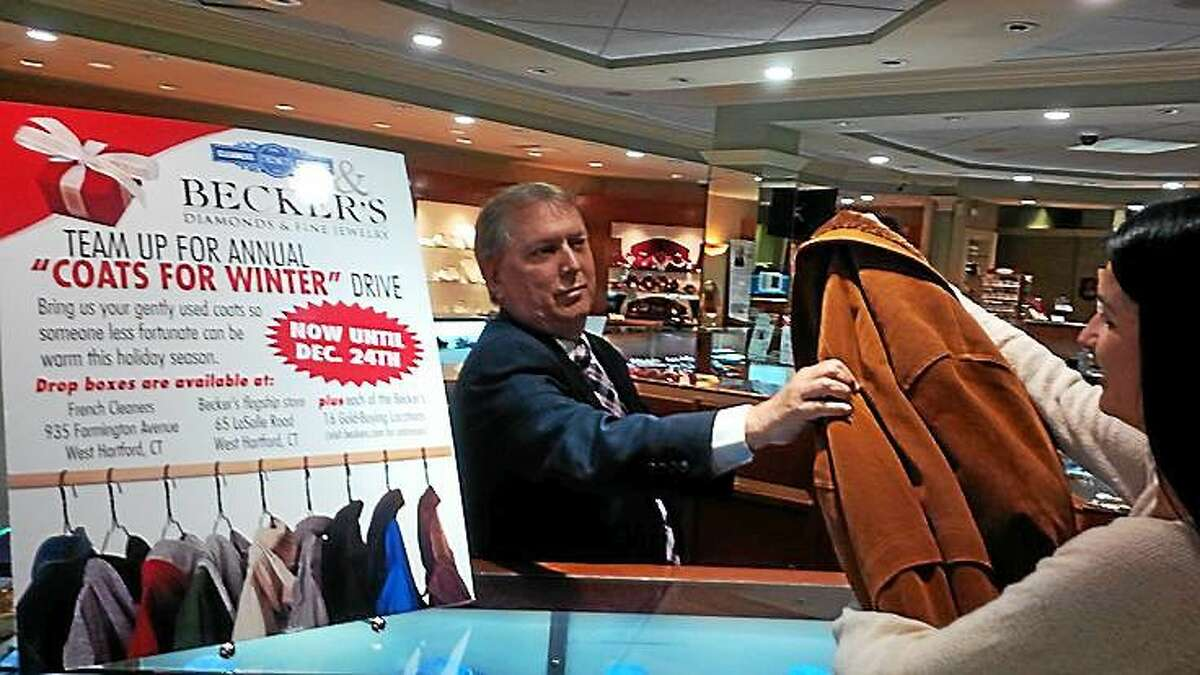 A winter coat drive for the needy is under way through Dec. 24. Donations can be dropped locally at French Cleaners, located in West Hartford, and all Becker's stores, including the Buying Center at 700 Washington St. in Middletown.