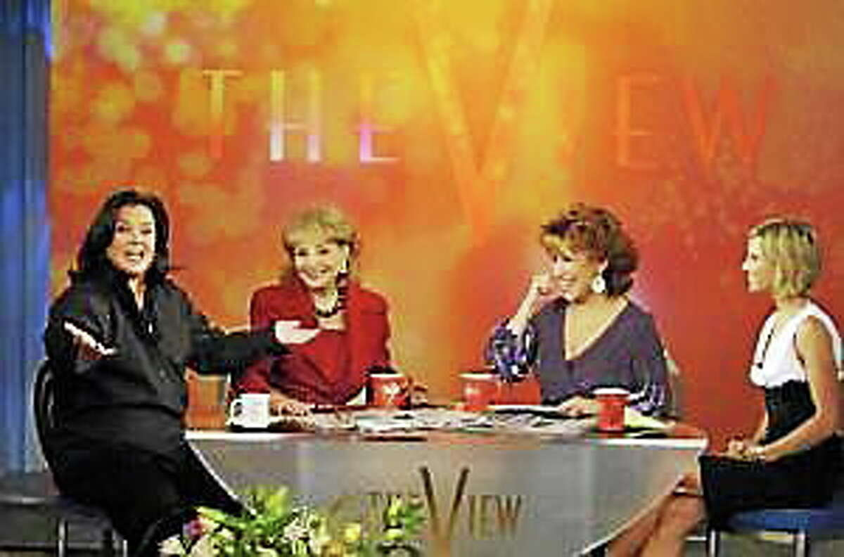 """Rosie O'Donnell debuted on the talkshow """"The View,"""" alongside co-hosts Barbara Walters, Joy Behar and Elisabeth Hasselbeck on September 5, 2006, in New York City."""