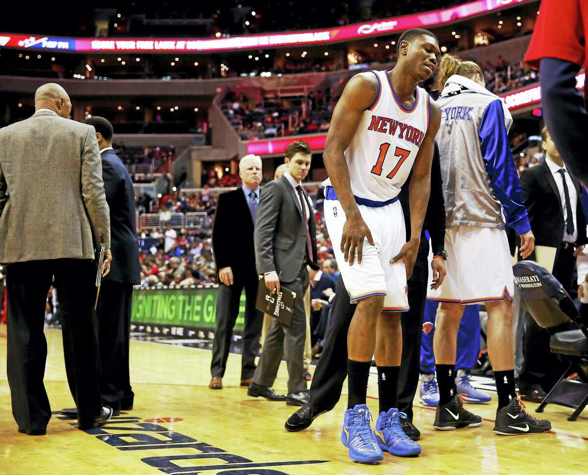Knicks forward Cleanthony Early (17) was shot in the leg early Wednesday morning outside a Queens strip club.