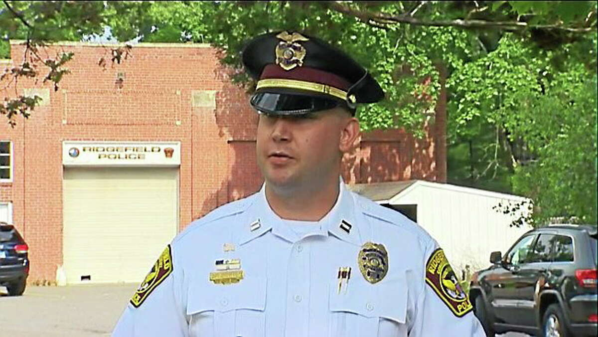 Ridgefield Police Capt. Jeff Kreitz speaks to the media.