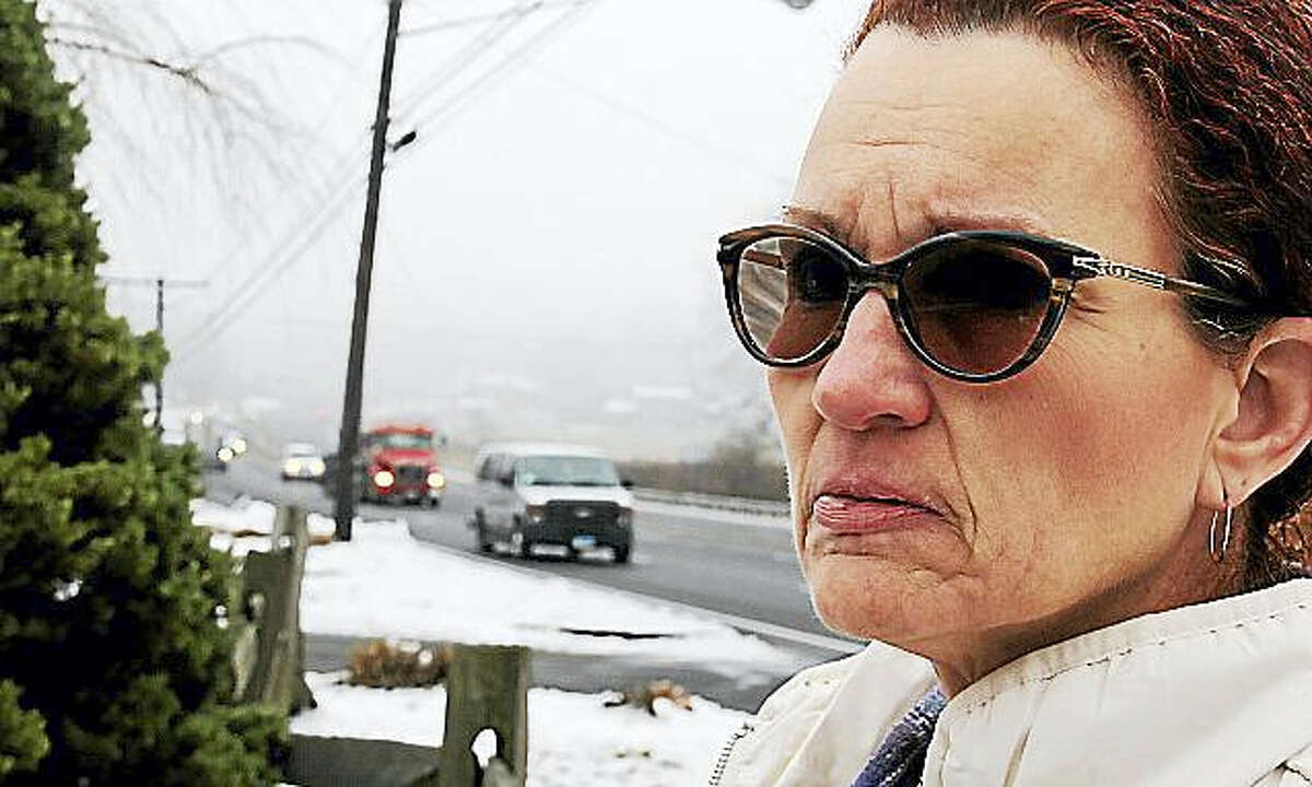 Rockfall resident Robin Cullen, who stands near Route 66 in Middlefield, received the highest recognition given by Mothers Against Drunk Driving — the Hilda Davis Achievement Award.