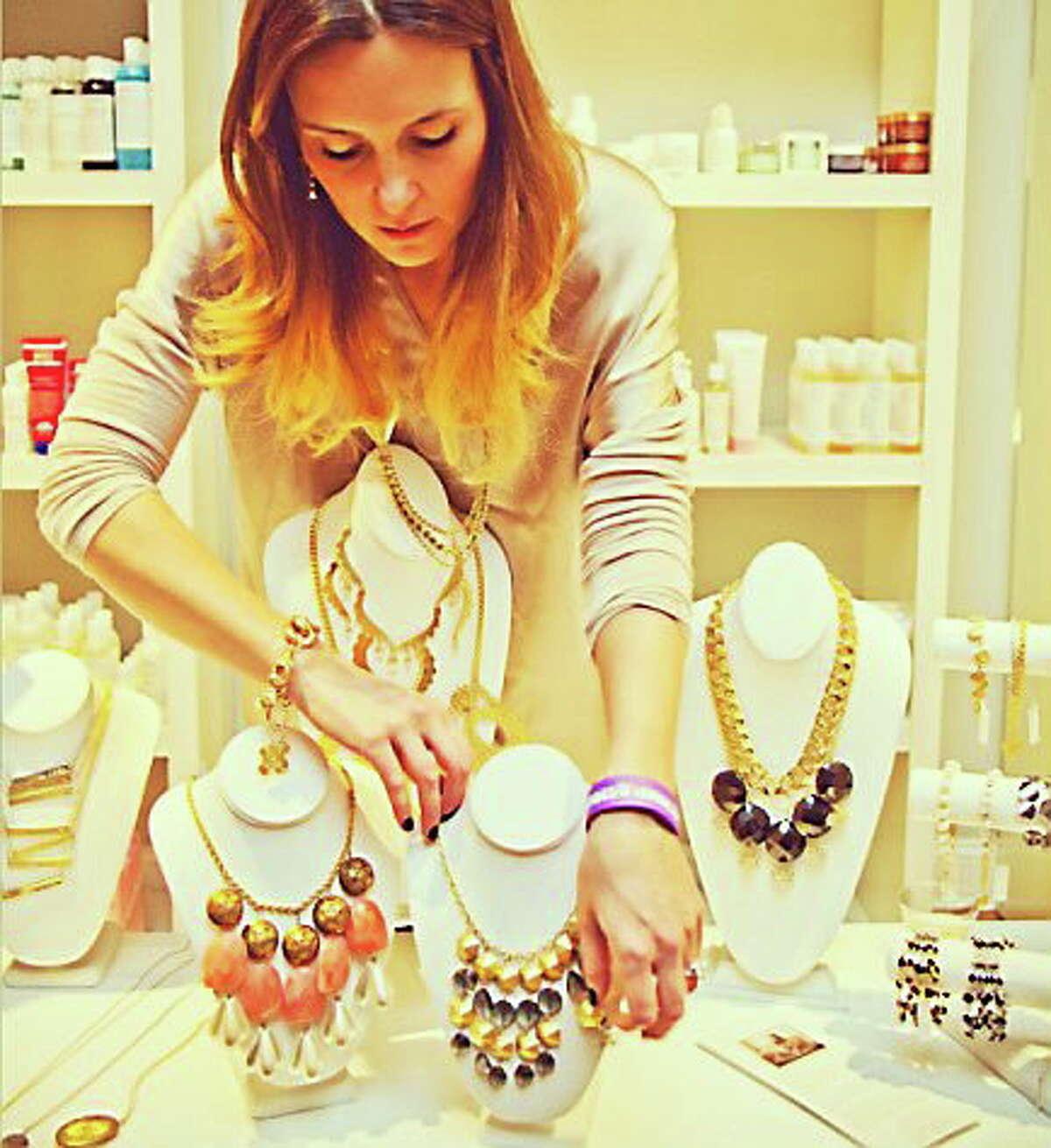 Courtesy Aquinnah Jewelry Kelley Solomon of Killingworth is the designer of Aquinnah Jewelry.