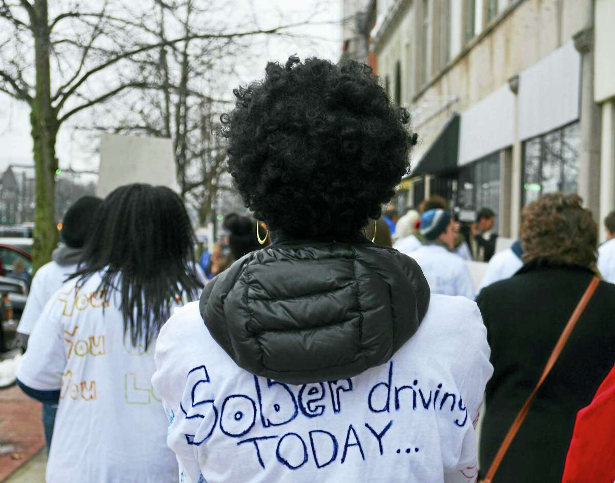 """A T-shirt with the message, """"Sober driving today."""""""