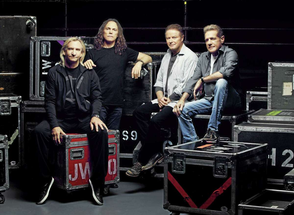 Contributed photo The Eagles are set to land at the XL Center to perform Wednesday, July 15. Above, The Eagles: Joe Walsh, Timothy B. Schmit, Don Henley and Glen Frey.
