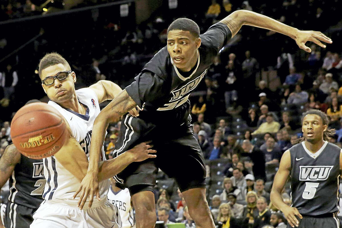 VCU transfer Terry Larrier, right, is expected to make a big impact for UConn next year when he is eligible to play.