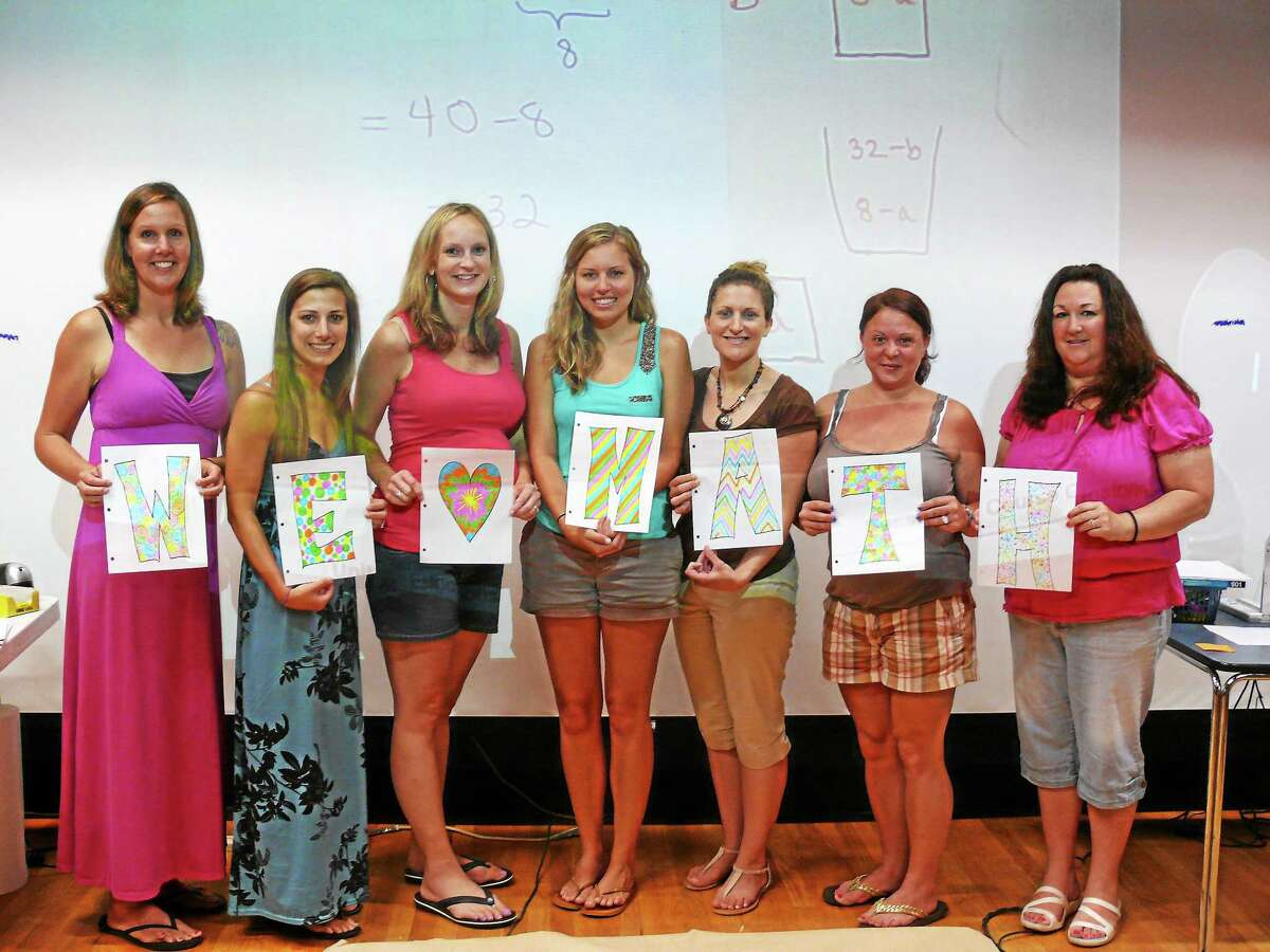 Teachers from Macdonough School in Middletown and educators from Meriden took part in a 10-day extensive Intel Math workshop aimed at improving teachers' understanding of math and its concepts.