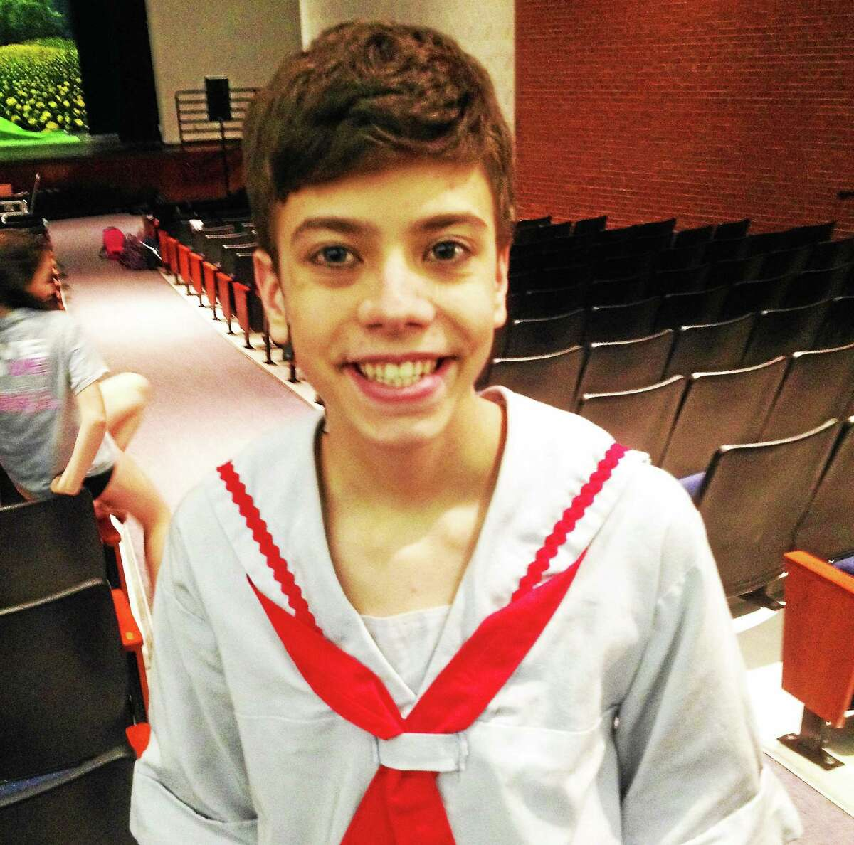 Eleventh-grader Mason Cordero transforms into Friedrich, one of the von Trapp children, for the classic Rodgers and Hammerstein musical.