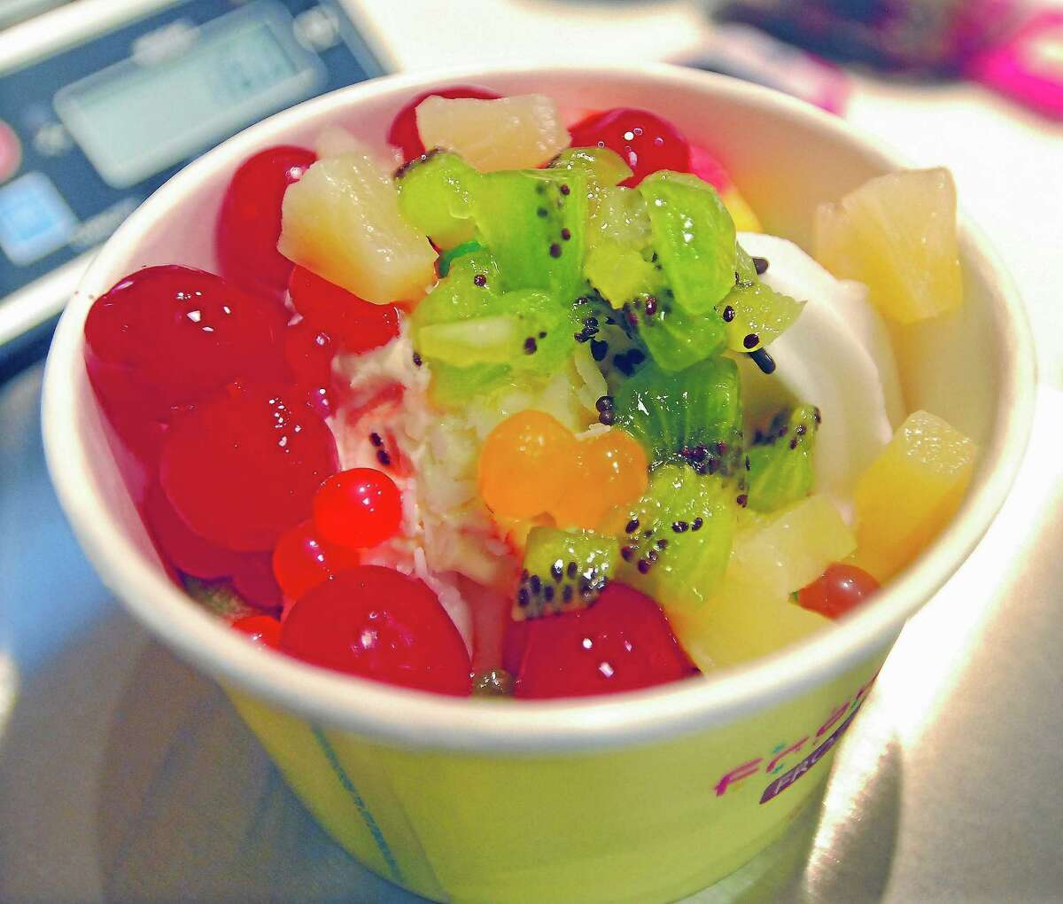Teens can enjoy a 15-percent discount at Froyo World in Middletown's Main Street Market.