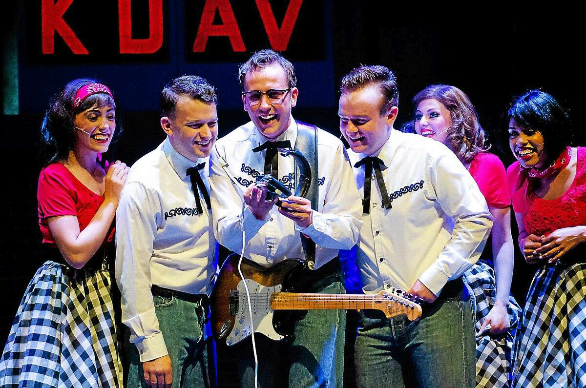 """Photos courtesy of the Palace Theater A scene from """"The Buddy Holly Story"""" which is being performed at the Palace Theater in Waterbury Jan. 23-24."""