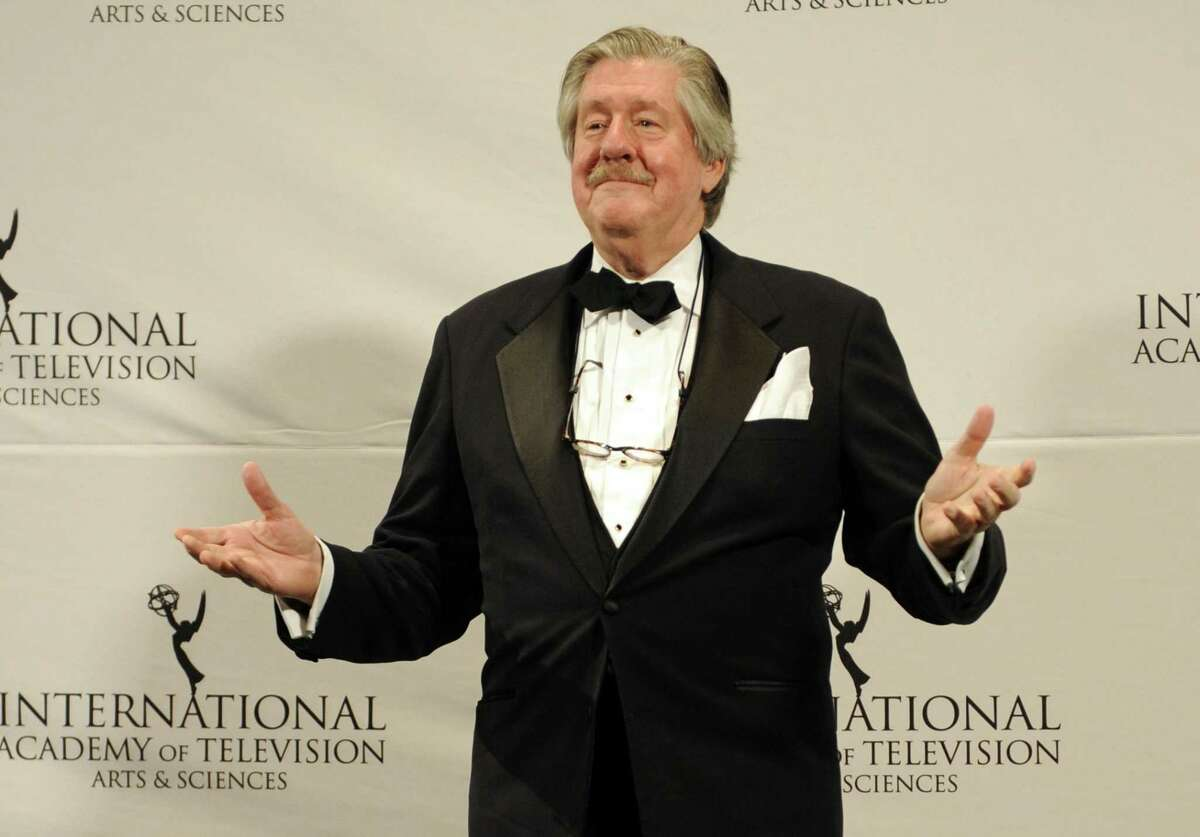 """FILE -- This Nov. 21, 2011 file photo shows, Edward Herrmann after presenting an award at the 39th International Emmy Awards, in New York. The son of Edward Herrmann says the """"Gilmore Girls"""" star and Tony Award-winner has died. Rory Herrmann said that his father died Wednesday, Dec. 31, 2014, in a New York City hospital where he was being treated for brain cancer. Edward He was 71. (AP Photo/Henny Ray Abrams, File)"""