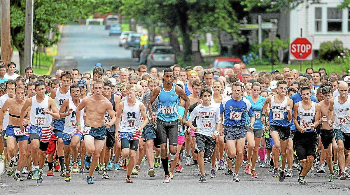 The start of the 2013 Citizens Bank 5K Summer Fun Run on Court Street in Middletown