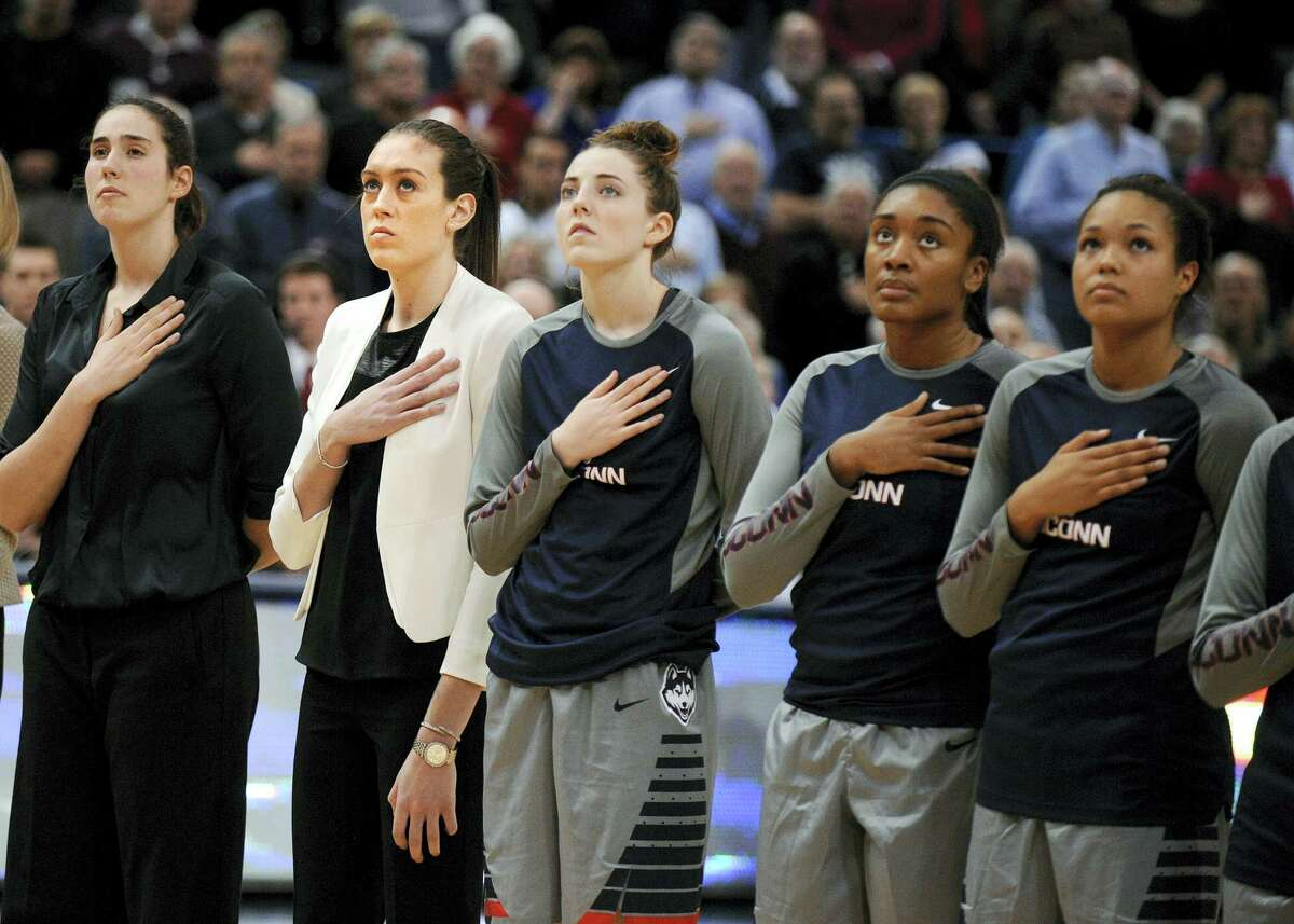 The UConn women's basketball team remained No. 1 in the latest AP women's basketball poll.