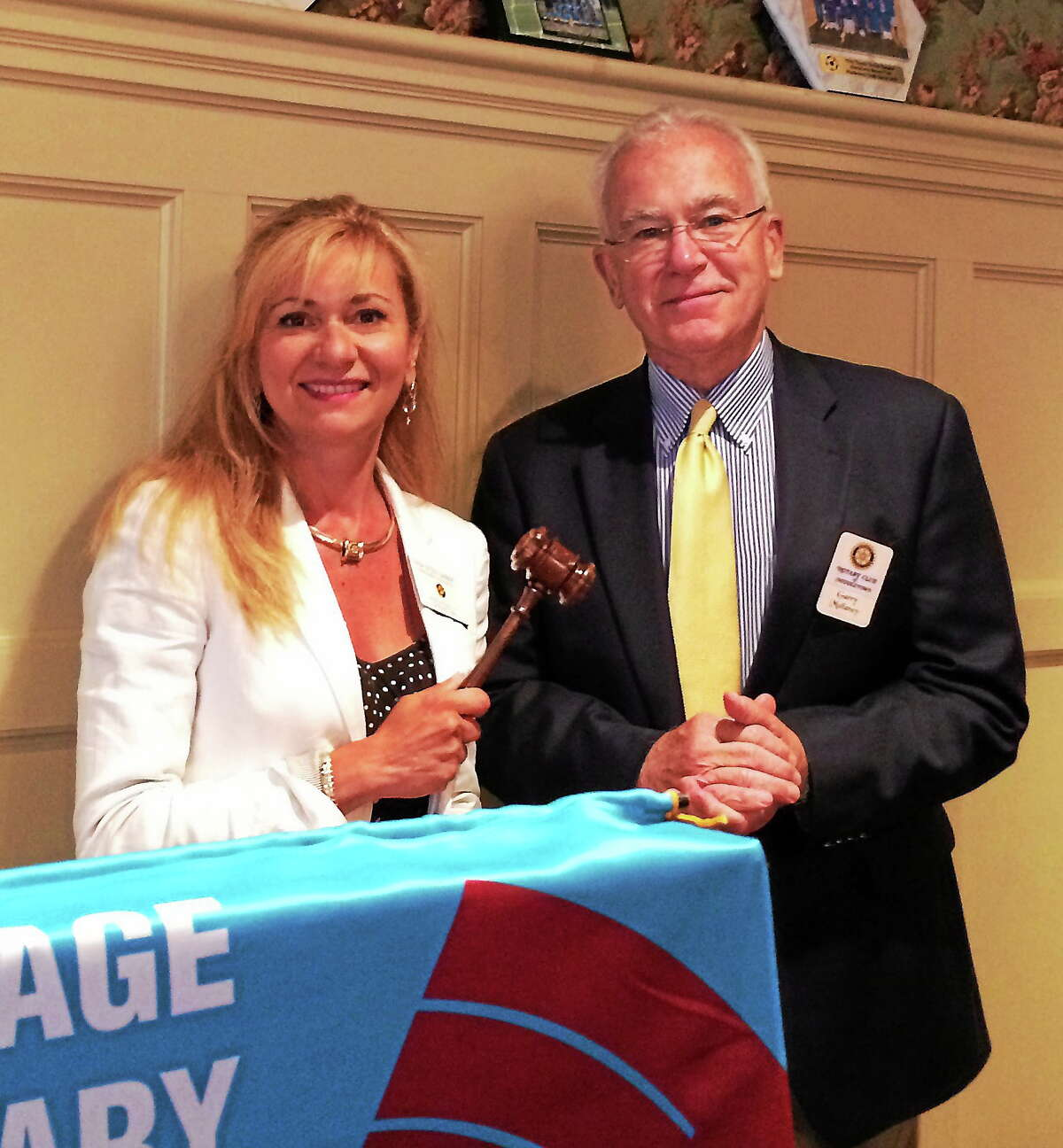 The Middletown Rotary Club welcomes Trish Witzky-Lambert as the club's 91st president for 2014-15 and thanks Garry Mullaney for his leadership and dedication in 2013-14.