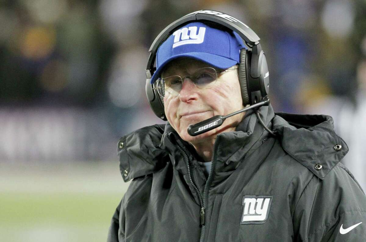 Giants head coach Tom Coughlin reacts on the sidelines during the second half of Sunday's loss to the Vikings.