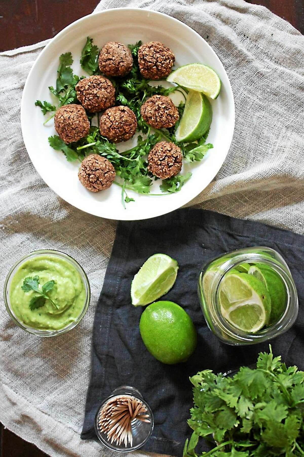 Vegan Black Bean Balls pack a healthy dose of protein.