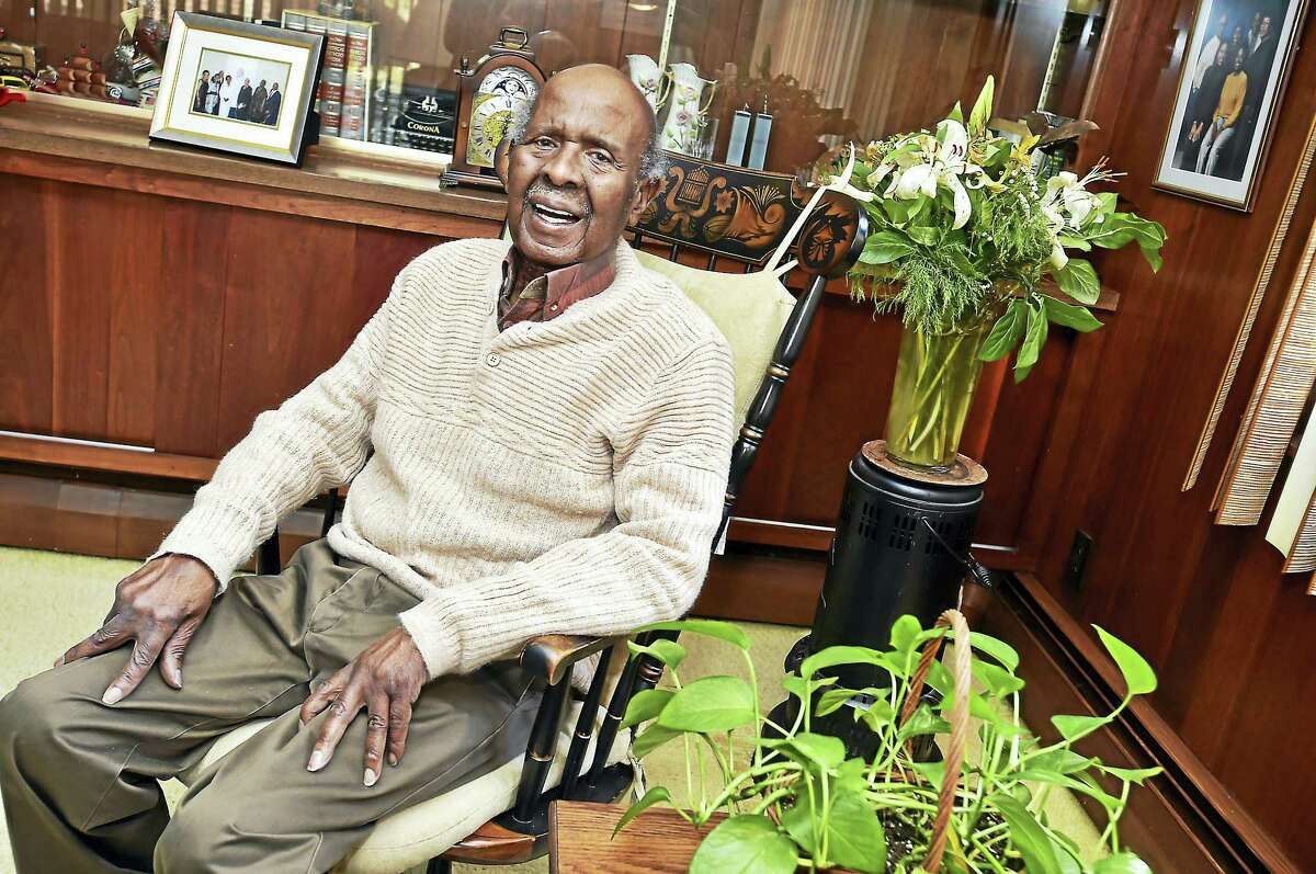 Middletown Press Person of the Year Willard McCrae, of Middletown, is photographed in his Pine Street home.