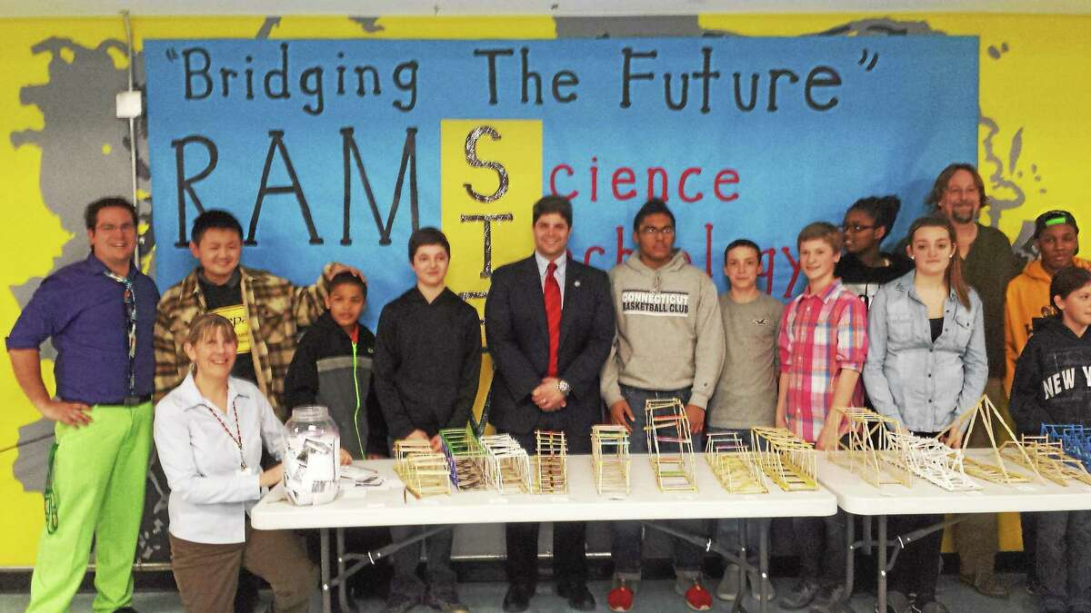 """Submitted photo The first Woodrow Wilson Middle School """"Bridging the Future"""" contest was held in Middletown recently."""