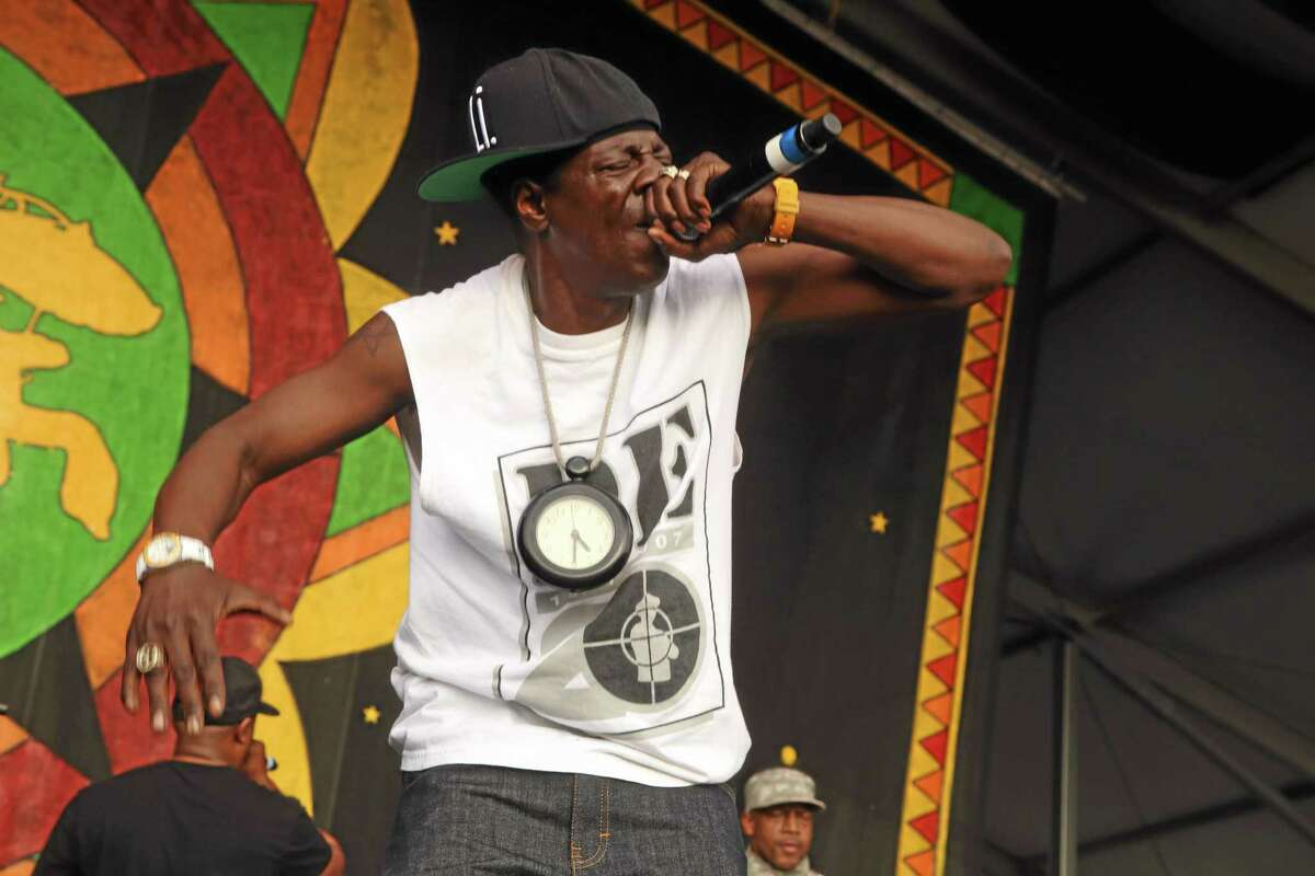 Flavor Flav of Public Enemy performs April 25 at the 2014 New Orleans Jazz & Heritage Festival at Fair Grounds Race Course in New Orleans. Police have cited rapper Flavor Flav over his annual Fourth of July fireworks show outside his Las Vegas home.