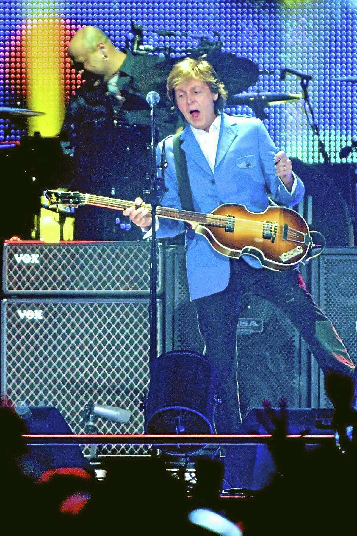 Sir Paul McCartney performs at the Times Union Center in Albany, N.Y., Saturday.