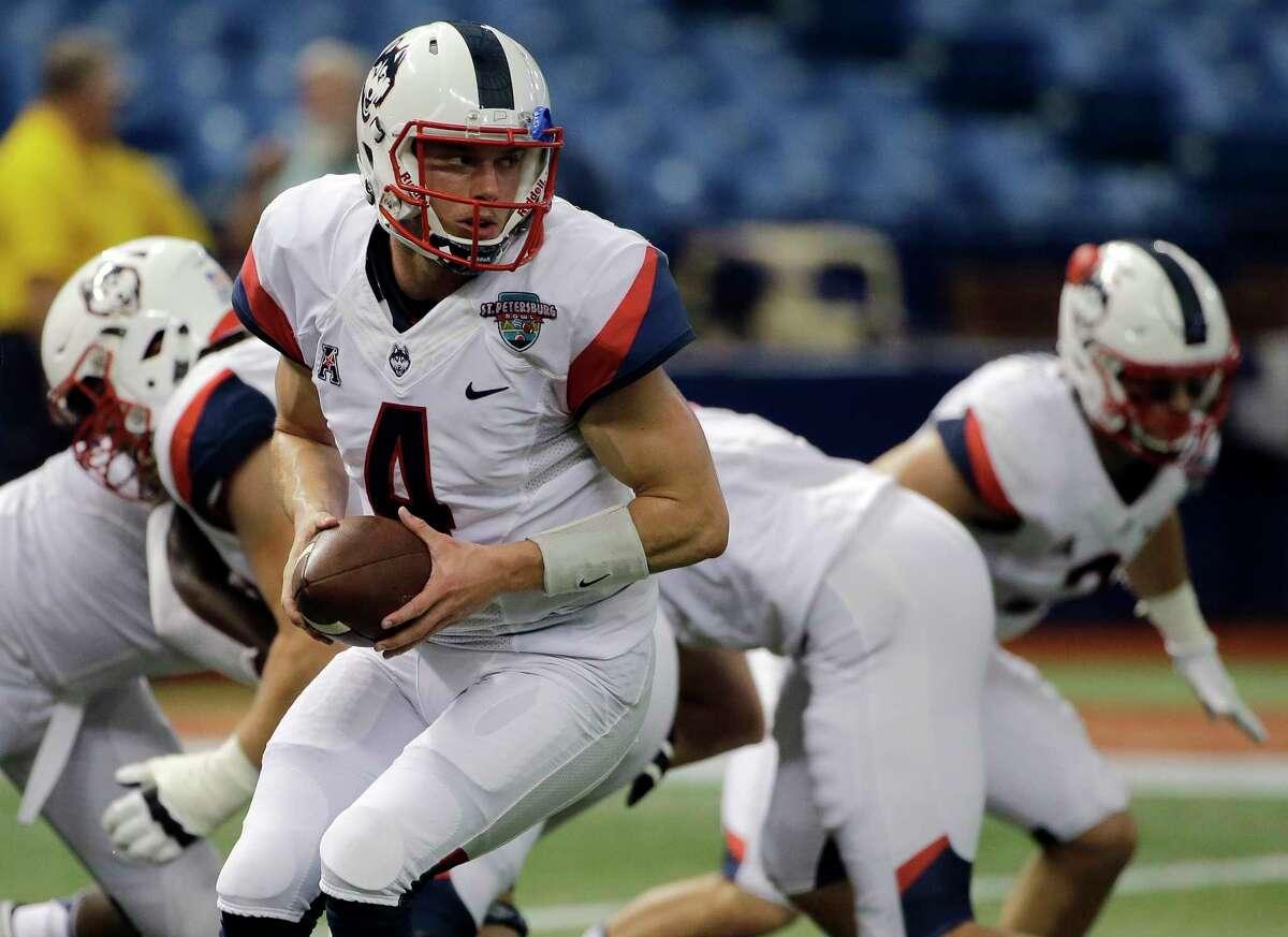UConn quarterback Bryant Shirreffs.