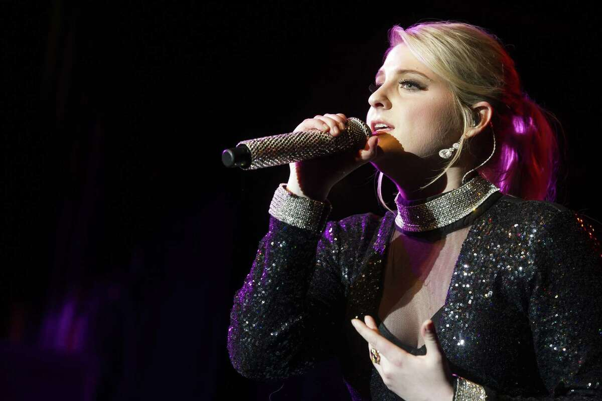 Meghan Trainor performs in a March 13 concert at Irving Plaza in New York.