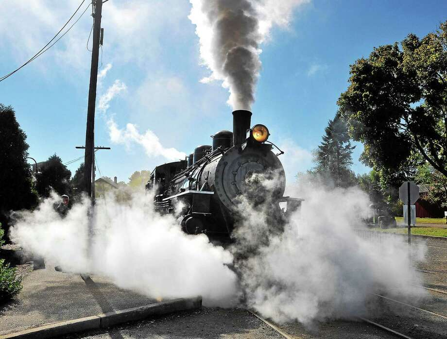 The Essex Steam Train leaves the station in this photograph from 2010. Photo: File