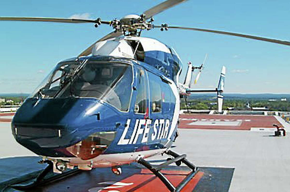 A 63-year-old woman was flown by LifeStar to Yale-New Haven Hospital following a serious crash on Saturday in Westbrook.
