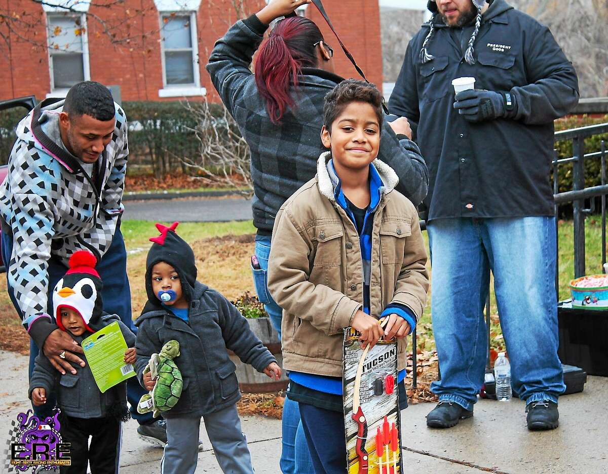 Courtesy ERE Racing Enthusiasts held its first holiday toy drive, collecting 500 toys for local children.
