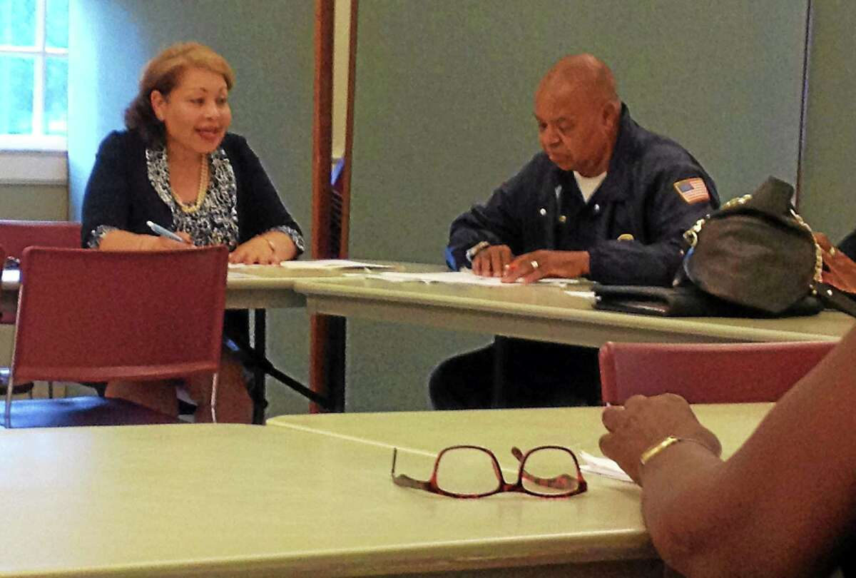 Middlesex County NAACP president Rosa Brown speaks at a chapter meeting June 17.