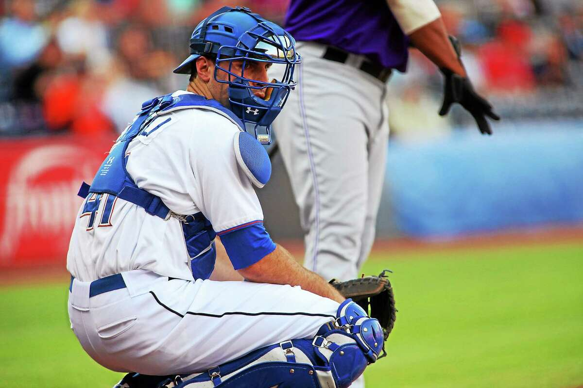 New Canaan's Curt Casali has made his way to Triple-A in the Tampa Bay Rays' organization.