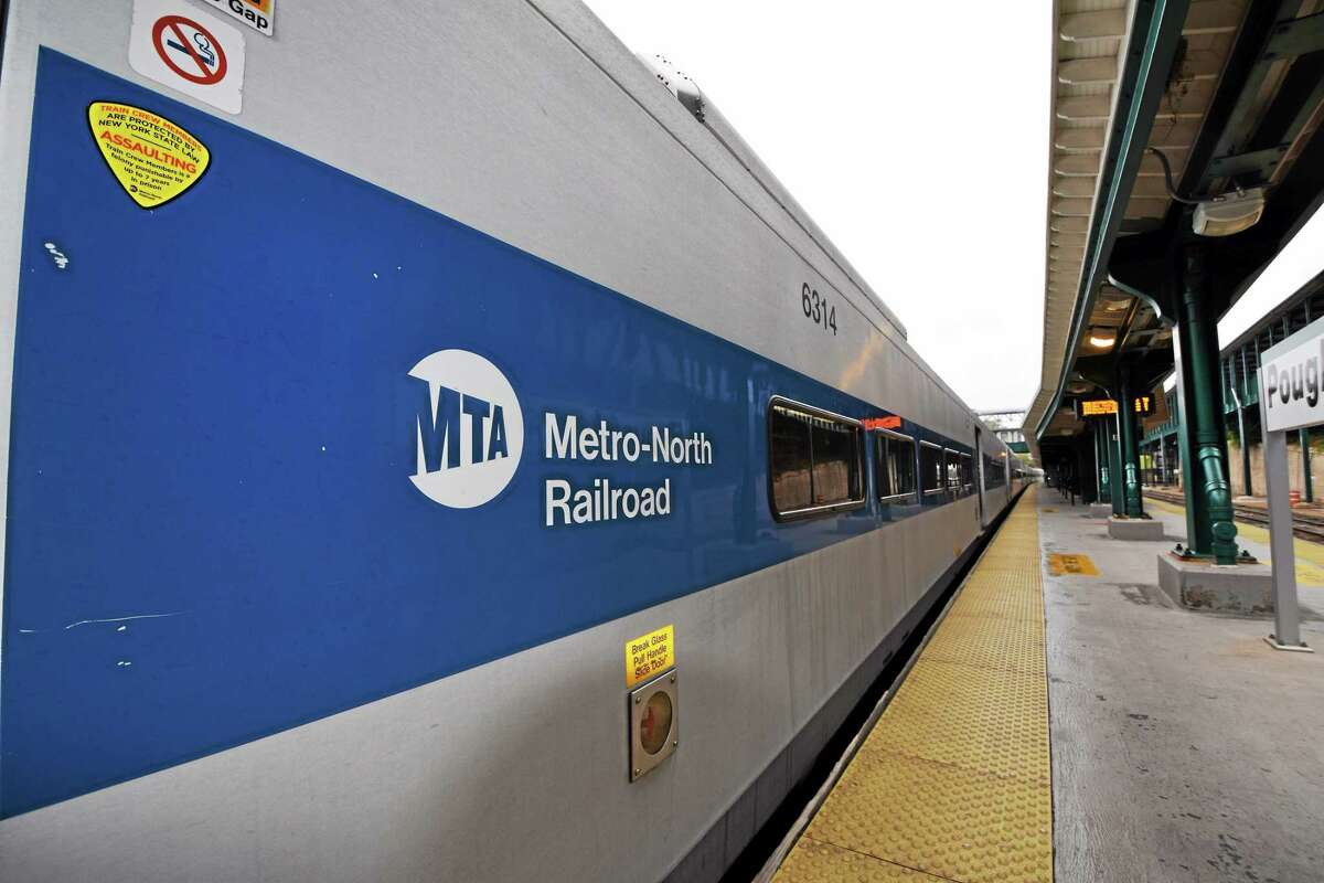 Metro-North train at Poughkeepsie train station. (Photo by Tony Adamis)