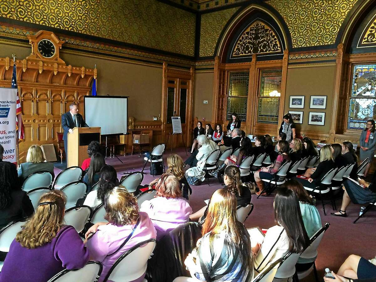 During the American Cancer Society Cancer Action Network Day at the Capitol last week, cancer advocates and survivors spoke out about funding for early detection and cuts to the state's tobacco control program in Hartford.
