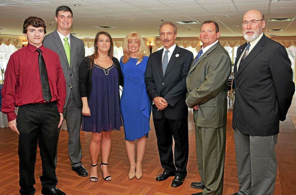 From left, Connor Reed, Spencer Dreher, Sarah Jadach, Jane Pinho, John Pagliaro, Tim King and Rich Langer.