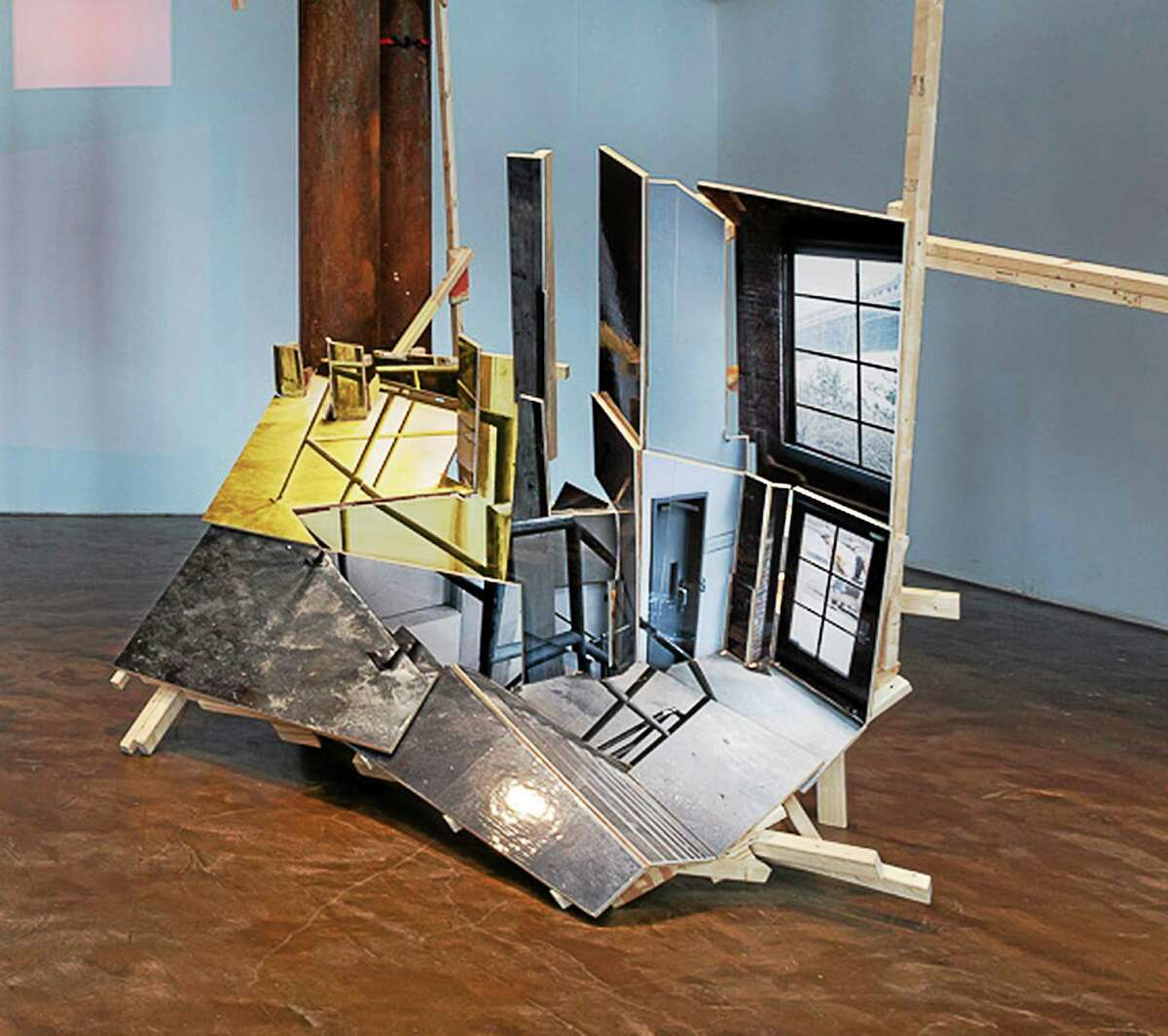 """""""Tilted"""" by Isidro Blasco at Smack Mellon, is part of a new exhibit, Picture/Thing, at Wesleyan University."""