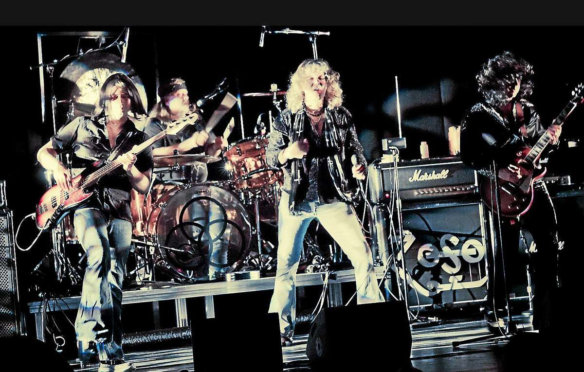 Submitted photo Hammer of the Gods, a Led Zeppelin tribute band, brings its show to the Palace Theater in Waterbury in January.