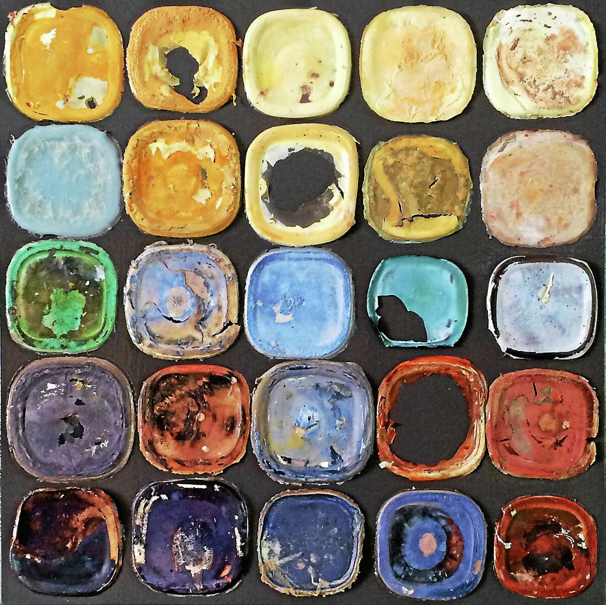Katie Samuelson's Product of Process is part of an exhibition ofMaple & Main Gallery artists showing their work at the Zahn gallery at Middlesex Hospital Shoreline Medical Center in Westbrook.